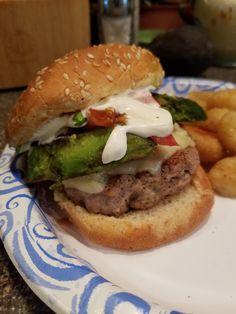 [Homemade] Turkey burger with grilled avocado and cilantro lemon aioli