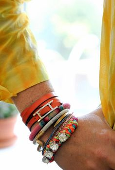 more fun colorful bracelets!