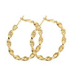 BIN BIN Kvinnors 18K Guld Zircon Hoops (ER0465) – SEK Kr. 16 Diamant.  Diamant SmyckenGuldsmyckenBijouterierOnlineshopping 2f65e65692f07