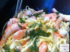 Recette de Salade de pâtes fraîches aux crevettes : la recette facile
