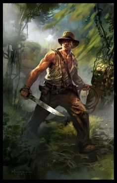 Indiana Jones ~ can't read the signature, not sure of artists name.
