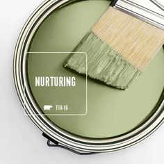 Color of the Month: Nurturing - Colorfully, BEHR - Fresh, warm and natural, Nurturing is our selection for the year's traditional month of gr - Green Paint Colors, Exterior Paint Colors, Paint Colors For Home, Wall Colors, House Colors, Green Shades Of Paint, Entry Paint Colors, Playroom Paint Colors, Gray Exterior
