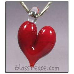 Lampwork Glass Heart Pendant by Allison Hill ~ www.GlassPeace.com