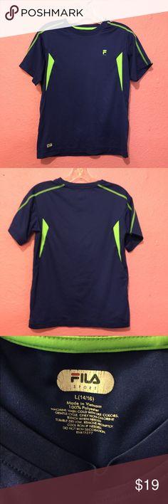 Boys FILA athletic shirt blue & green L 1416 Boys FILA athletic shirt Fila Shirts & Tops