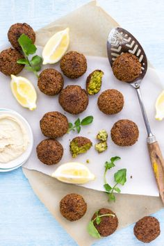 Watercress and Pea Falafels via Sips and Spoonfuls #recipe