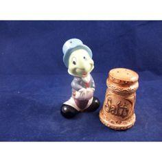 Disney Jiminy Cricket & Salt Shaker - $14.95 on www.Snp-Etc.com - Novelty Salt and Pepper Shakers