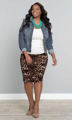 Chubby women rock jeans jacket fashion accessories