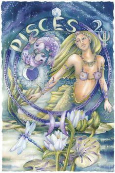 Bergsma Gallery Press::Paintings::Art With Symbols::Zodiac::Pisces - Prints