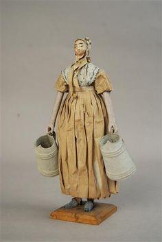 Figura di carta di una cameriera Germania, circa 1800