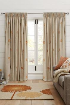 Buy Dandelion Embroidery Pencil Pleat Curtains from the Next UK online shop