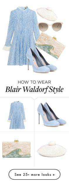 """blair waldorf inspired"" by holographicdisney on Polyvore featuring Topshop Unique, Miu Miu, Gucci, Chopard, Edie Parker, blairwaldorf and gossipgirl"