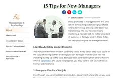 Top 15 Tips for New Managers Time Management, Leadership, Sayings, News, Words, Lyrics, Horse, Quotations, Idioms