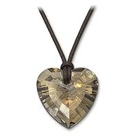 Swarovski Heart Golden Teak Pendant Swarovski Jewelry 987380
