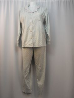 Soft Sensations Gray Polka Dots Sleep Top & Pant Lounge/PJ's Plus Size 2X #SoftSensations #PajamaSets