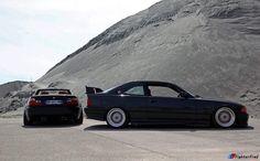 BMW E46 M3 cabrio black and E36 3 series black