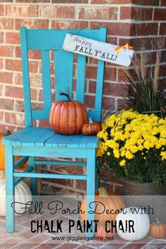 Transforming Old Chair with Chalk Paint #chalkyfinish #decoartprojects