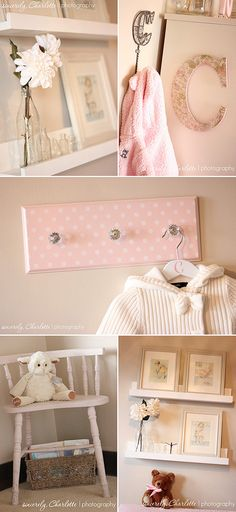 Baby Girl Nursery Decor | Girl Nursery Decorating Ideas - Feminine Nursery
