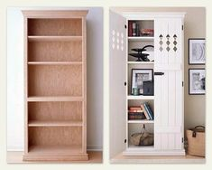 Looking to make a bookshelf into a pantry