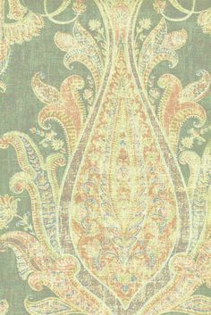 """Fair Trade Har   Bonsai   Repeat 25""""    Width 54""""   55% Linen   45% Rayon   Drapery   Multi   Prints"""