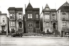 Historic View of Van Ness Avenue homes in San Francisco, San Francisco County, CA