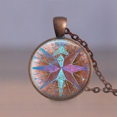 Jewelry  25mm Compass 4 Nautical  Choice of by MaDGreenCreations, $13.50