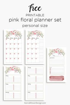 Pink floral planner inserts in and personal size day on one page week on Pink Planner, Free Planner, Planner Pages, Planner Ideas, Agenda Planner, Happy Planner, Printable Calendar Template, Planner Template, Printable Planner