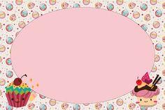Cupcakes Fofinhos – Kit Completo com molduras para convites, rótulos para guloseimas, lembrancinhas e imagens! | Fazendo a Nossa Festa