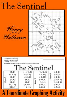 Enjoy Halloween with this spooky coordinate graphing activity