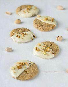 Pistache koekjes met witte chocolade