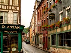 Street in Honfleur by Michael Simmons on Michael Simmons, European Countries, France, Street, World, Places, Nature, Beautiful, The World