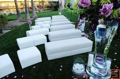 Lounge Furniture for Wedding Ceremony Seating. #avantgardefloraldesignstudio