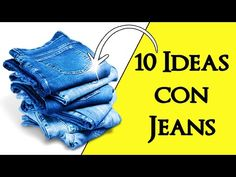 Crafts: Today you can see 10 ideas to recycle jeans or old jeans, making very useful ideas such as bags, purses, toiletry bags, hair ornaments and more . Jean Crafts, Denim Crafts, Rock Crafts, Bee Creative, Recycle Jeans, Toiletry Bag, Sewing Hacks, Sewing Patterns, Recycling