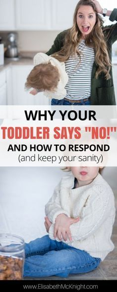 "did your toddler start saying ""NO!"" to everything? love this explanation why and the tips for dealing with it / how to respond"