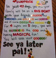 Cruise Surprise Letter