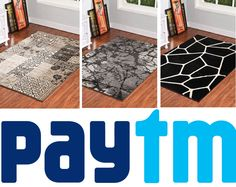 Our #carpet, #Rug Designs are available in #Paytm with attractive #discounts. #Discount on every design. Buy our #CarpetDesigns and #AreaRugs and get extra discounts from #paytm too by following the #image. Decor, Carpet, Contemporary, Kids Rugs, Stuff To Buy, Home Decor, Rugs, Contemporary Rug, Area Rugs
