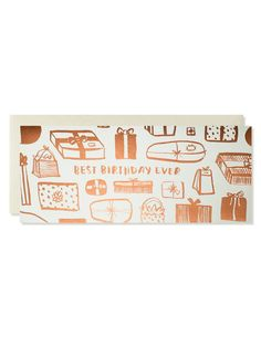 """Best Birthday Ever! Copper Foil Card 