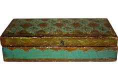 Florentine Wood Box  Älskar denaa teknik Har lite brickor , askar och små ramar. Man kan ha många...lolol