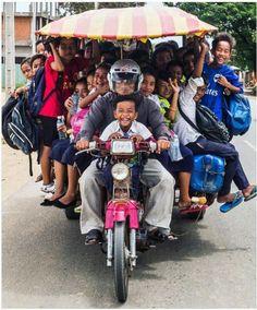 A stuffed bike ride Funny Photos, Cool Photos, Filipino Culture, Public Transport, People Around The World, Belle Photo, Cute Kids, Transportation, Beautiful People