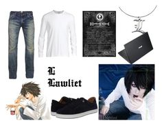 """""""L Lawliet <3<3<3"""" by saoraworld ❤ liked on Polyvore featuring PRPS, James Perse, Salvatore Ferragamo, ASUS, women's clothing, women's fashion, women, female, woman and misses"""