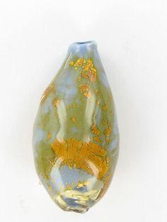 Murano Venetian Glass Bead Handmade Gold orange