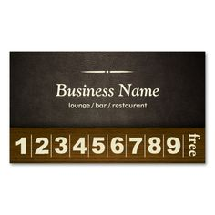 Pizza Loyalty Business Card Stamp Card | Business cards and ...