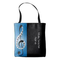 Trendy Music Paino Teacher Tote Personalized Tote Bag