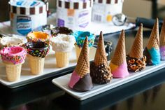 As if I needed another excuse to eat ice cream, these dipped and decorated ice cream cones make eating ice cream like a party any day of the week! Dipped ice cream cones are so easy to make at home…