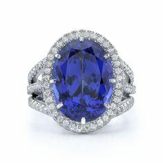 Omi Prive: Tanzanite and Diamond Ring Style: RC1020-TZOV