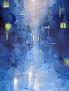 Sam Durkin - Cold City Abstract Skyline