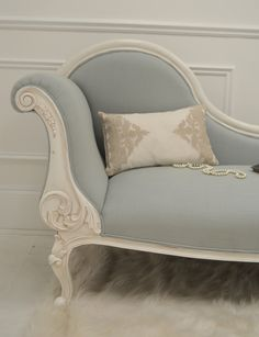 Alana Duck Egg Chaise Longue | Sweetpea and Willow