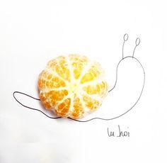 #snail #orange