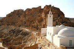 Village de Chénini. Région de Tataouine. Tunisie.