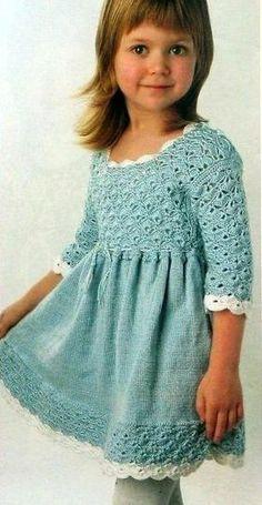 Платье для девочки комбинированное.