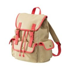Tan/Orange Neon Backpack. This is my new back pack for college. It's from Target and I'm absolutely in love with it :)